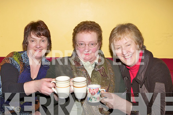 Ann Doherty, Joan Curran and Patricia McGillicuddy enjoying a cup of tea at the Beaufort Rambling House on Saturday night in Beaufort Community Centre  ......