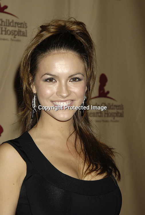 Chrishelle Stause of All My Children ..at the 11th Annual Daytime Television Salutes St. Jude Children's Research Hospital benefit hosted by Martha Byrne on October 14, 2005 at The New York Marriott Marquis Hotel. ..Photo by Robin Platzer, Twin Images
