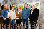 Pictured at the opening of an exhibition of work by artist Joseph Keating in The Old Oratory in Cahersiveen titled 'Town' on Friday evening last were l-r; Niamh O'Sullivan, Gina Hussey, Maureen Corcoran, Josesph Keating & Eamon Corcoran.