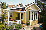 Ericksen Cottages, Bainbridge Island, innovative, energy conserving, built green, cottage houses, built by the Cottage Company, Seattle, Washington, Pacific Northwest, USA,