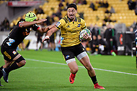 Hurricanes' Ben Lam in action during the Super Rugby - Hurricanes v Chiefs at Westpac Stadium, Wellington, New Zealand on Friday 13 April 2018.<br /> Photo by Masanori Udagawa. <br /> www.photowellington.photoshelter.com