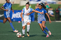 Allston, MA - Saturday August 19, 2017: Camila Martins Pereira, Margaret Purce during a regular season National Women's Soccer League (NWSL) match between the Boston Breakers and the Orlando Pride at Jordan Field.