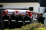 Pallbearers carry the casket of Corporal Andrew James Eykelenboom, 23, out of the Comox Pentecostal Church in Comox. Eykelenboom, a Canadian army medic, was killed in Afghanistan in a suicide bombing. Photo assignment for the Canadian Press (CP) news wire service.