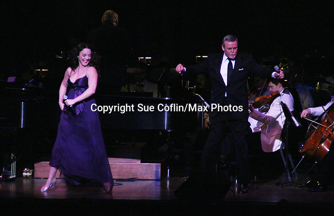 Melissa Errico and Ron Raines perform Jerry Herman's Broadway with the National Symphony Orchestra at The John F. Kennedy Center for Performing Arts on March 14, 2009, in Washington D.C. (Photo by Sue Coflin/Max Photos)