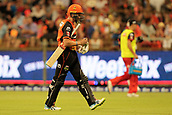 8th January 2018, The WACA, Perth, Australia; Australian Big Bash Cricket, Perth Scorchers versus Melbourne Renegades; Michael Klinger of the Perth Scorchers walks off after getting out for a duck during the first over