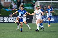 Boston, MA - Friday August 04, 2017: Angela Salem and Maegan Kelly during a regular season National Women's Soccer League (NWSL) match between the Boston Breakers and FC Kansas City at Jordan Field.