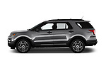 Car driver side profile view of a 2019 Ford Explorer Sport 5 Door SUV