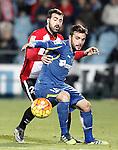 Getafe's Pedro Leon (r) and Athletic de Bilbao's Mikel Balenziaga during La Liga match. January 30,2016. (ALTERPHOTOS/Acero)