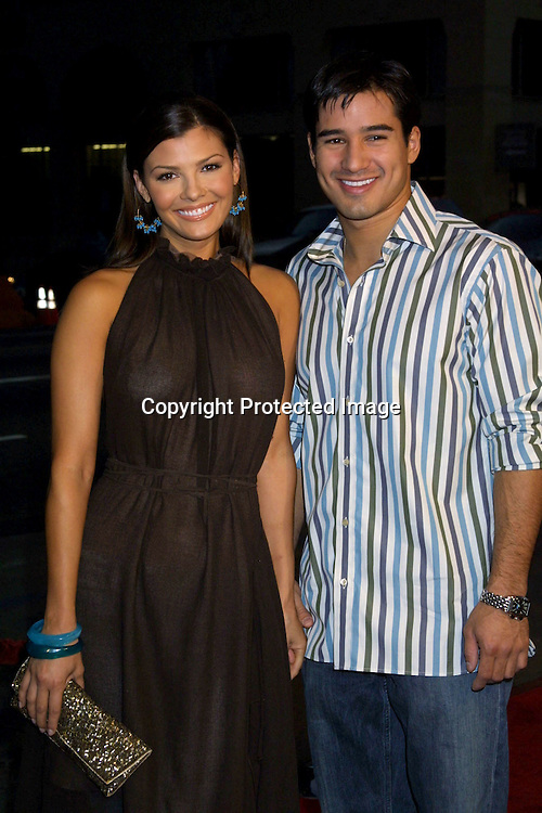 "©2002 KATHY HUTCHINS/HUTCHINS PHOTO.PREMIERE OF ""WHITE OLEANDER"".GRAUMAN'S CHINESE THEATER.HOLLYWOOD, CA.OCTOBER 8, 2002..ALI LANDRY.MARIO LOPEZ."