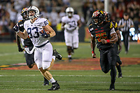 College Park, MD - September 27, 2019: Penn State Nittany Lions tight end Nick Bowers (83) runs after catching a pass during game between Penn St and Maryland at  Capital One Field at Maryland Stadium in College Park, MD.  (Photo by Elliott Brown/Media Images International)