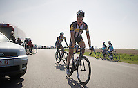 Tyler Farrar (USA/MTN-Qhubeka) just finished his recon <br /> <br /> 2015 Paris-Roubaix recon
