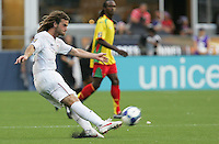 Kyle Beckerman kicks the ball. USA defeated Grenada 4-0 during the First Round of the 2009 CONCACAF Gold Cup at Qwest Field in Seattle, Washington on July 4, 2009.
