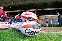 Picture by Allan McKenzie/SWpix.com - 22/04/2018 - Rugby League - Ladbrokes Challenge Cup - York City Knight v Catalans Dragons - Bootham Crescent, York, England - Ladbrokes, branding, balls.