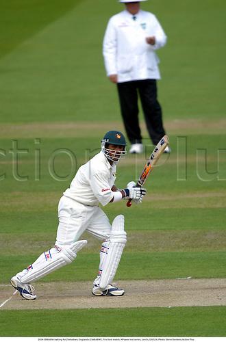 DION EBRAHIM batting for Zimbabwe, England v ZIMBABWE, First test match, NPower test series, Lord's, 030524. Photo: Steve Bardens/Action Plus...2003.Cricket .batsman batsmen.