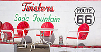 Twisters Soda Fountain is a 1950's style diner on Route 66 in Williams Arizona.
