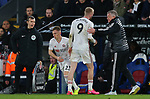Sheffield United's Oliver McBurnie is substituted for Sheffield United's Ben Osborn during the Premier League match at Selhurst Park, London. Picture date: 1st February 2020. Picture credit should read: Paul Terry/Sportimage