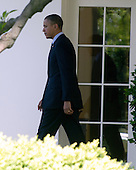 United States President Barack Obama departs the White House in Washington, D.C. for a trip to Miami, Florida and the Summit of the Americas on Friday, April 13, 2012..Credit: Ron Sachs / CNP