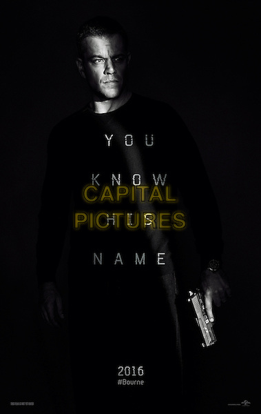 Jason Bourne (2016) <br /> POSTER ART<br /> *Filmstill - Editorial Use Only*<br /> CAP/KFS<br /> Image supplied by Capital Pictures