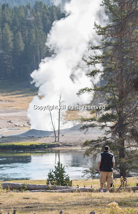 People visit Yellowstone to see geysers, landscape and wildlife.