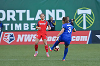 Portland, OR - Saturday May 06, 2017: Hayley Raso, Lauren Barnes during a regular season National Women's Soccer League (NWSL) match between the Portland Thorns FC and the Seattle Reign FC at Providence Park.
