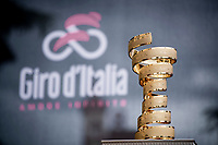 The 'never ending trophy' known as the Trofeo Senza Fine with a (name) spot for the 2019 champion still open<br /> <br /> Stage 3: Vinci to Orbetello (219km)<br /> 102nd Giro d'Italia 2019<br /> <br /> ©kramon