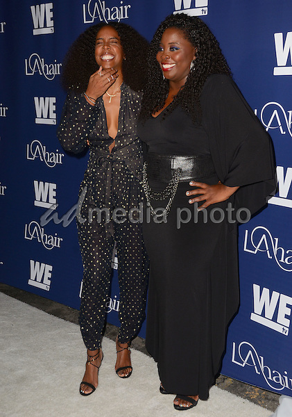 """14 July 2015 - Hollywood, California - Kelly Rowland, Kim Kimble. Arrivals for WE Tv's """"L.A. Hair"""" premiere party held at Avalon Hollywood. Photo Credit: Birdie Thompson/AdMedia"""