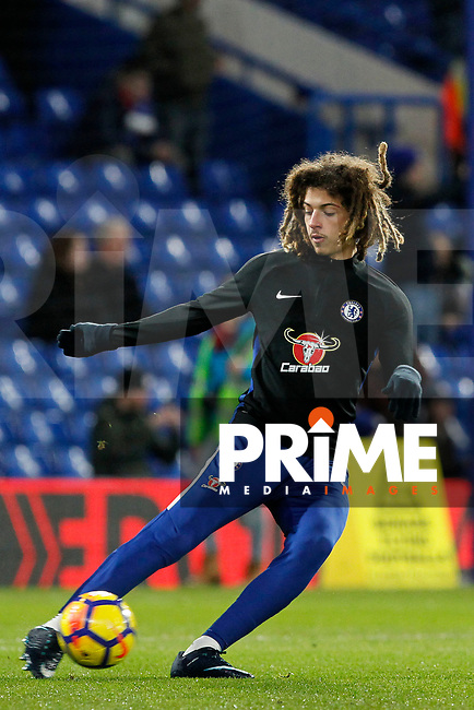 Ethan Ampadu of Chelsea during the Premier League match between Chelsea and Bournemouth at Stamford Bridge, London, England on 31 January 2018. Photo by Carlton Myrie / PRiME Media Images.