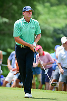 Steve Stricker (USA) watches his tee shot on 9 during Saturday's round 3 of the PGA Championship at the Quail Hollow Club in Charlotte, North Carolina. 8/12/2017.<br /> Picture: Golffile | Ken Murray<br /> <br /> <br /> All photo usage must carry mandatory copyright credit (&copy; Golffile | Ken Murray)