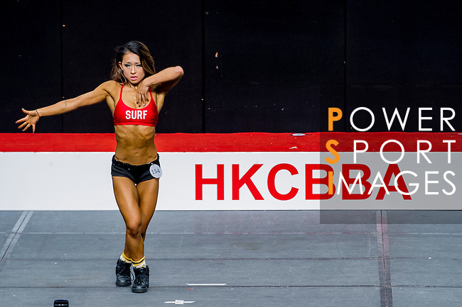 A bodybuilder competes in the South China Women's Fitness Physique category during the 2016 Hong Kong Bodybuilding Championships on 12 June 2016 at Queen Elizabeth Stadium, Hong Kong, China. Photo by Lucas Schifres / Power Sport Images