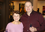 WATERBURY CT. 08 February 2018-020818SV07-From left, Lucille Parsons of Waterbury and Rob Gardner, owner of Nutmeg Fine Wines and Spirits attend The Mattatuck Museum's 5th Annual Beer Fest in Waterbury Thursday.<br /> Steven Valenti Republican-American