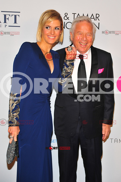 NEW YOKR, NY - NOVEMBER 7: Dana Blumberg and Robert Kraft at The Elton John AIDS Foundation's Annual Fall Gala at the Cathedral of St. John the Divine on November 7, 2017 in New York City. Credit:John Palmer/MediaPunch /NortePhoto.com