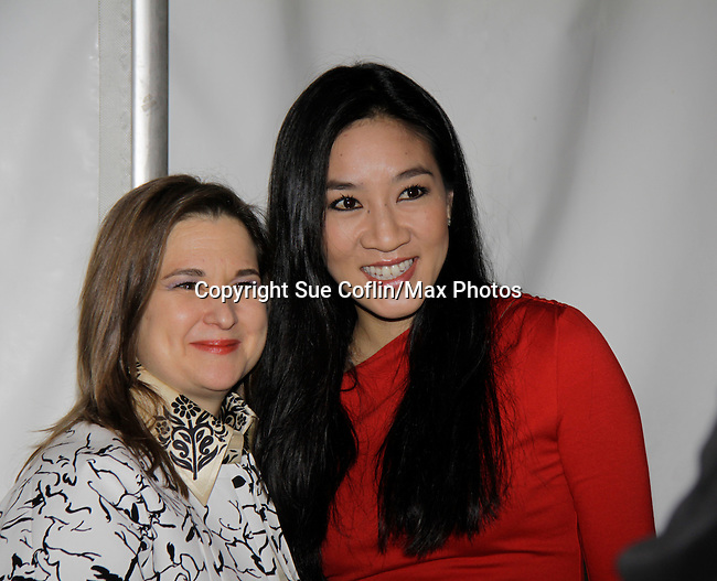 Sharon Cohen & Michelle Kwan - Skating with the Stars - a benefit gala for Figure Skating in Harlem in its 17th year is celebrated with many US, World and Olympic Skaters honoring Michelle Kwan and Jeff Treedy on April 7, 2014 at Trump Rink, Central Park, New York City, New York. (Photo by Sue Coflin/Max Photos)