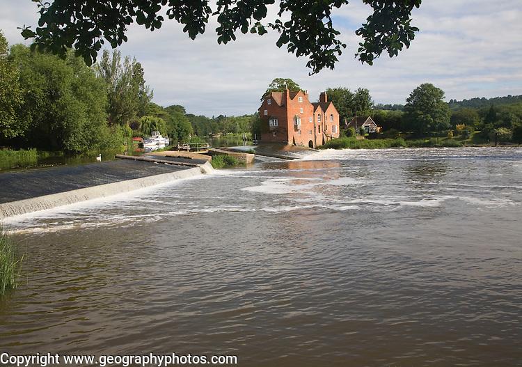 Cropthorne Mill on the River Avon at, Fladbury, Worcestershire, England