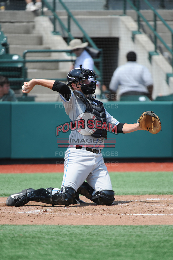 Hudson Valley Renegades catcher Zach Marberry (20) during game 2 of a double header against the Brooklyn Cyclones at MCU Park on July 8, 2014 in Brooklyn, NY.  Hudson Valley defeated Brooklyn 3-0.  (Tomasso DeRosa/Four Seam Images)