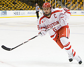 Joe Pereira (BU - 6) - The Harvard University Crimson defeated the Boston University Terriers 5-4 in the 2011 Beanpot consolation game on Monday, February 14, 2011, at TD Garden in Boston, Massachusetts.