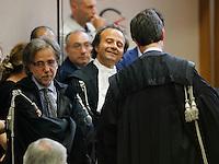 Henry Woodcook e Piscitelli  durante la lettura del la sentenza di condanna per Berlusconi  perla  compravendita senatori