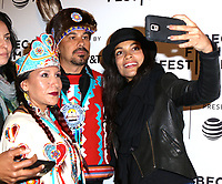 www.acepixs.com<br /> <br /> April 22 2017, New York City<br /> <br /> Floris White Bull, (L) and Rosario Dawson arriving at the premiere of 'Awake: A Dream from Standing Rock' during the 2017 Tribeca Film Festival at Cinepolis Chelsea on April 22, 2017 in New York City. <br /> <br /> By Line: Nancy Rivera/ACE Pictures<br /> <br /> <br /> ACE Pictures Inc<br /> Tel: 6467670430<br /> Email: info@acepixs.com<br /> www.acepixs.com