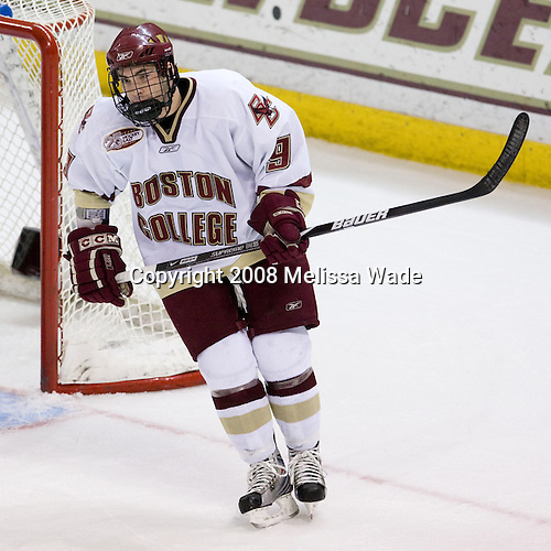 Barry Almeida (Boston College 9) - The Boston University Terriers defeated the Boston College Eagles 3-1 at Kelley Rink in Conte Forum in Chestnut Hill, Massachusetts.