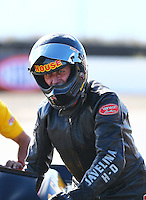 Feb 26, 2017; Chandler, AZ, USA; NHRA top fuel nitro Harley Davidson rider Rickey House during the Arizona Nationals at Wild Horse Pass Motorsports Park. Mandatory Credit: Mark J. Rebilas-USA TODAY Sports