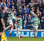 11.3.2018 Rangers v Celtic:<br /> Tom Rogic celebrates his goal
