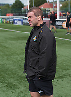 Coaching staff before the RFU Championship Cup match between Ealing Trailfinders and Ampthill RUFC at Castle Bar , West Ealing , England  on 28 September 2019. Photo by Alan  Stanford / PRiME Media Images