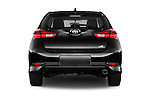 Straight rear view of 2016 Scion iM 5 Door Hatchback Rear View  stock images