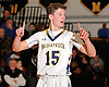 Chris Wasson #15 of Massapequa communicates with his team during the Nassau County varsity boys basketball Class AA quarterfinals against Hempstead at Massapequa High School on Wednesday, Feb. 17, 2016. He drained four three-pointers in the second half. Massapequa won by a score of 50-38.