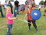 Lucas and Rebecca Doyle at the Viking festival in Annagassan. Photo:Colin Bell/pressphotos.ie