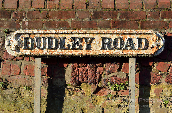 Old dilapidated Dudley Road street sign, Finchley N2, London, UK.