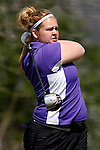 SIOUX FALLS, SD - MAY 4, 2009 :  Megan Placko of Winona State watches her tee shot on the 9th hole at Westward Ho Monday during the 2009 NCAA Division II Super Regional Three Women's Golf Championships. (Photo by Dick Carlson/Inertia)