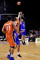 Saints&rsquo; Leon Henry in action during the NBL - Cigna Saints v Southland Sharks at TSB Bank Arena, Wellington, New Zealand on Thursday 25 April 2019. <br /> Photo by Masanori Udagawa. <br /> www.photowellington.photoshelter.com