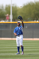 Elier Hernandez #23 of the Kansas City Royals during a Minor League Spring Training Game against the Texas Rangers at the Kansas City Royals Spring Training Complex on March 20, 2014 in Surprise, Arizona. (Larry Goren/Four Seam Images)