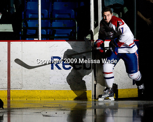Matt Ferreira (Lowell - 17) - The Princeton University Tigers defeated the University of Massachusetts-Lowell River Hawks 3-2 on Saturday, December 12, 2009, at Tsongas Arena in Lowell, Massachusetts.