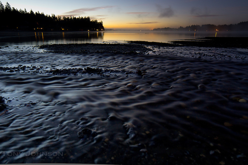 fresh water from the Schel-Chelb Estuary flows into Rich Passage on the Bainbridge Island shoreline
